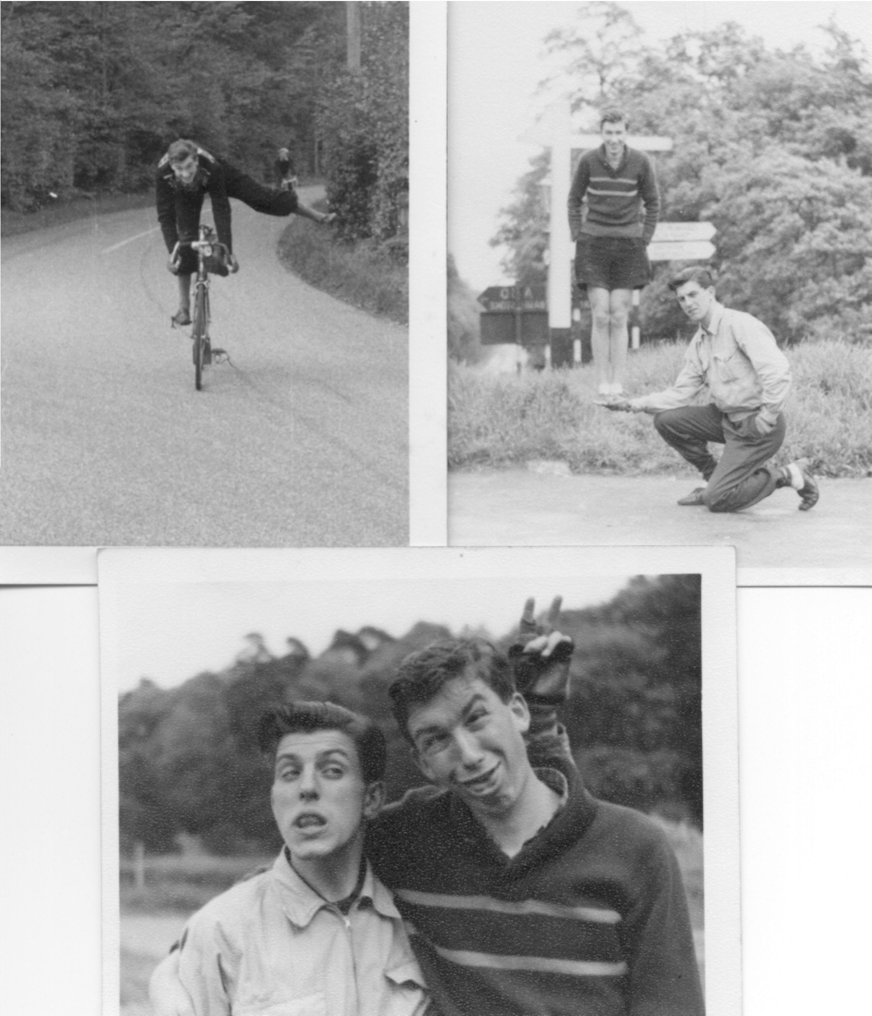 Things to do on a club run! Top left and bottom, with Tony Standing